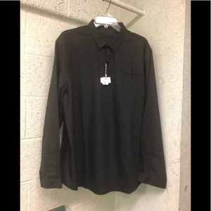 NWT Coofandy Pullover Cotton/Spandex Shirt